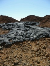 Day 2 - The black lava flows are virtually uneroded (formed in 1897)